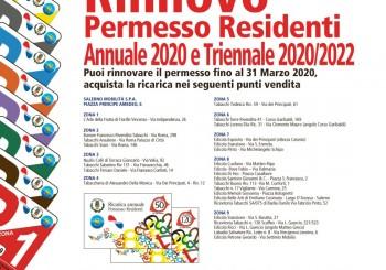 Permesso residenti 2020/2022